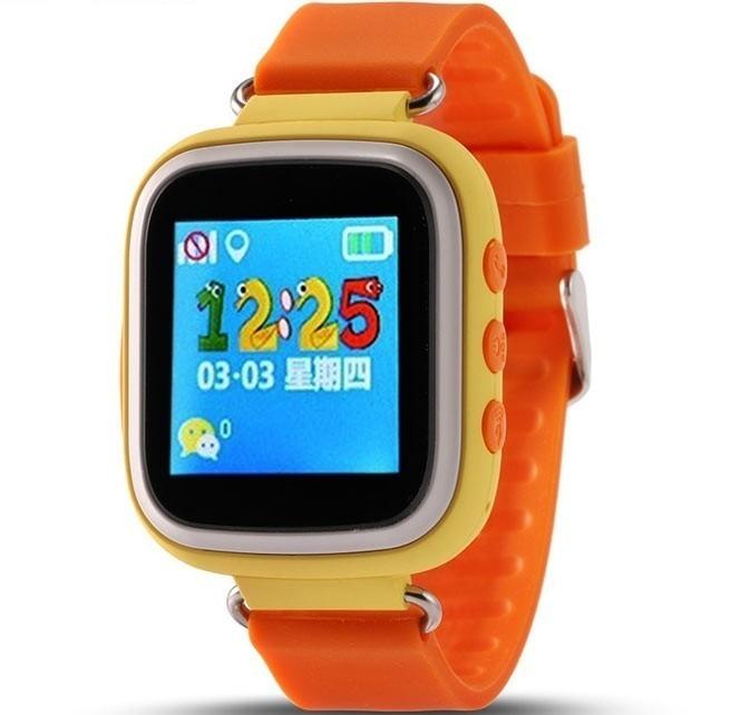 Ceas Smartwatch cu GPS Copii iUni Q80, Telefon incorporat, Buton SOS, Bluetooth, Portocaliu