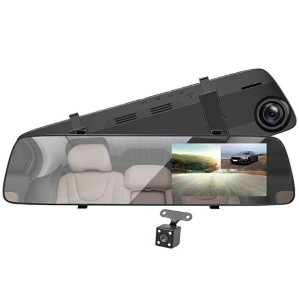 Camera Auto Oglinda iUni Dash A5+, Dual Cam, Display 4.5 inch, Full HD, Night Vision, WDR by Anytek