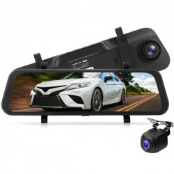 Camera Auto Dubla Oglinda iUni Dash A7, WDR, Touchscreen, Display 9.66 inch, Full HD, Night Vision