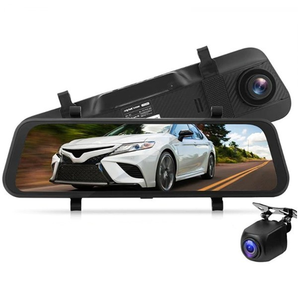 Camera Auto Dubla Oglinda iUni Dash A7, WDR, Touchscreen, Display 9.66 inch, Full HD, Night Vision imagine techstar.ro 2021
