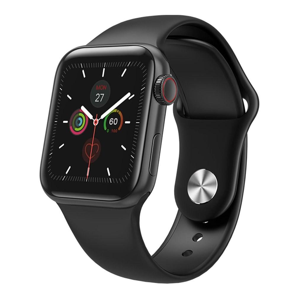 Ceas Smartwatch Techstar® W58Pro Negru, 1.3 inch IPS, Monitorizare Temperatura, Sedentarism, Bluetooth, IP65