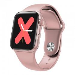 Ceas Smartwatch Techstar® W58Pro Roz, 1.3 inch IPS, Monitorizare Temperatura, Sedentarism, Bluetooth, IP65