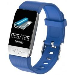 Bratara Fitness Techstar® T1S Albastru, ECG, Puls, Oxigenarea Sangelui, Temperatura Corpului, Bluetooth, Sedentarism, Alerte