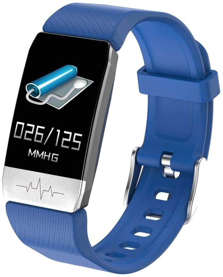 Bratara Fitness Techstar® T1S Albastru, ECG, Puls, Oxigenarea Sangelui, Temperatura Corpului, Bluetooth, Sedentarism, Alerte imagine techstar.ro 2021
