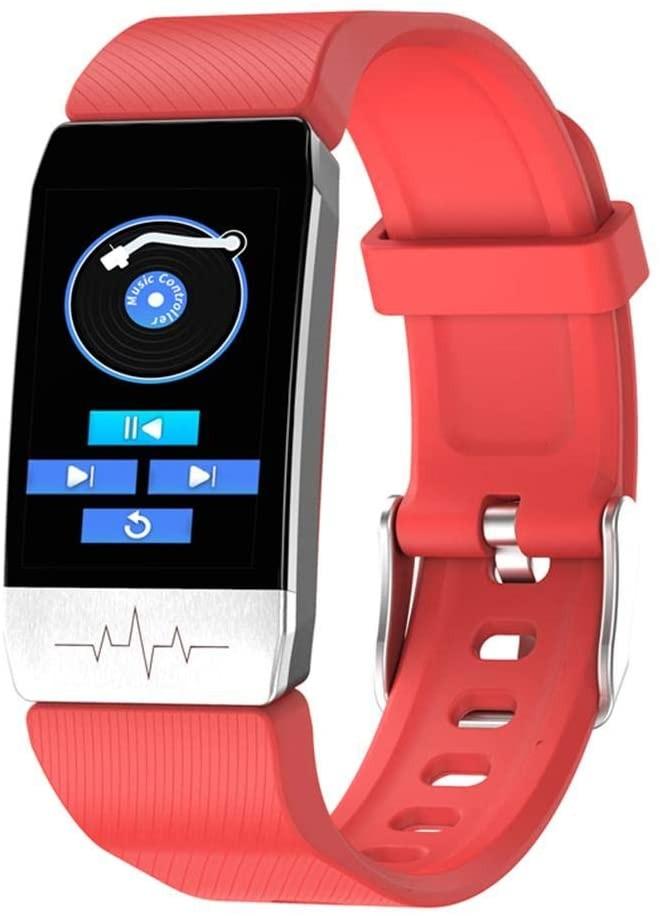 Bratara Fitness Techstar® T1S Rosu, ECG, Puls, Oxigenarea Sangelui, Temperatura Corpului, Bluetooth, Sedentarism, Alerte imagine techstar.ro 2021