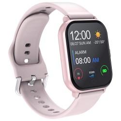 Ceas Smartwatch Techstar® T55 Roz, 1.3 inch IPS, Monitorizare Cardiaca, Tensiune, Sedentarism, Bluetooth 5.0