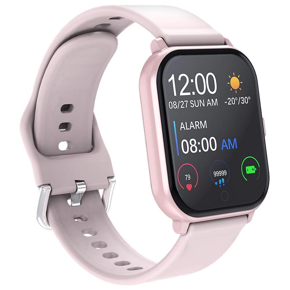 Ceas Smartwatch Techstar® T55 Roz, 1.3 inch IPS, Monitorizare Cardiaca, Tensiune, Sedentarism, Bluetooth 5.0 poza 2021