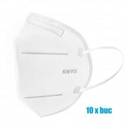 Set 10 bucati Masti de protectie de unica folosinta FFP2 KN95, 4 straturi