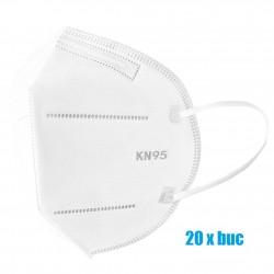 Set 20 bucati Masti de protectie de unica folosinta FFP2 KN95, 4 straturi