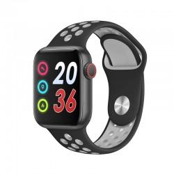 Ceas Smartwatch Techstar® W5 Negru, 1.54 inch IPS, Monitorizare Cardiaca, Tensiune, Sedentarism, Bluetooth 4.2