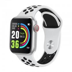 Ceas Smartwatch Techstar® W5 Alb, 1.54 inch IPS, Monitorizare Cardiaca, Tensiune, Sedentarism, Bluetooth 4.2