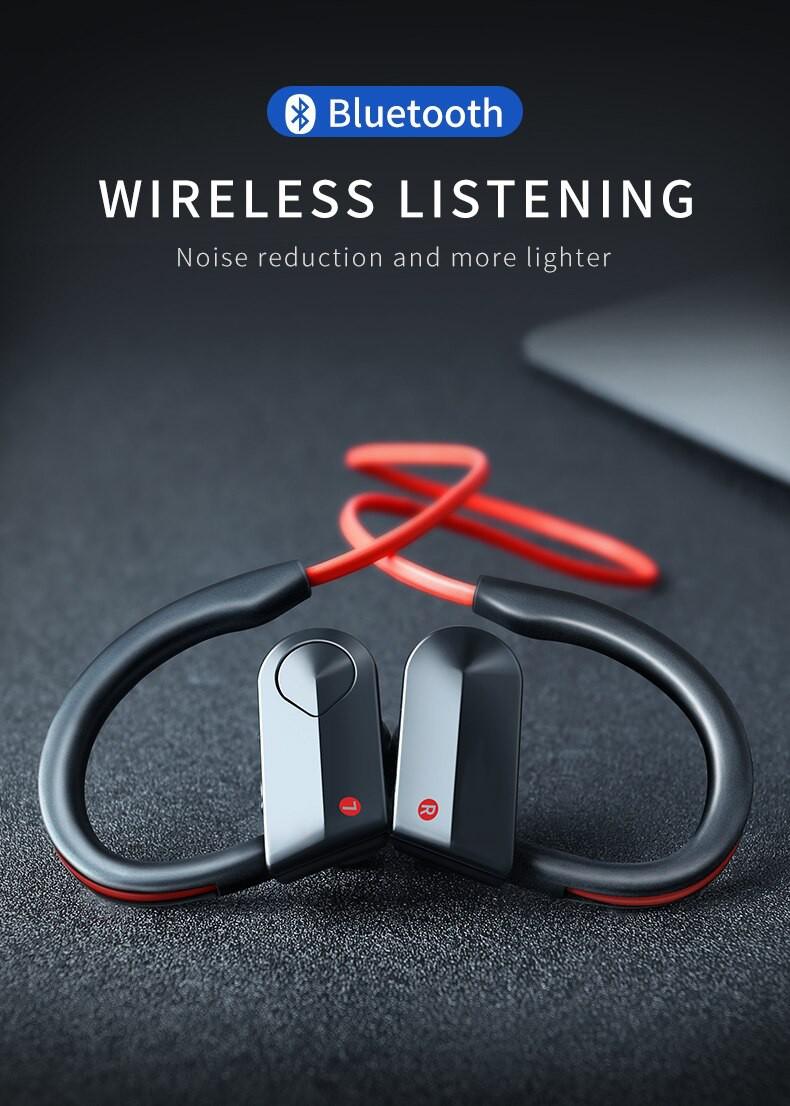 Casti Wireless Techstar® K98, Rosu, Bluetooth 4.1, HiFi, Cip CSR imagine techstar.ro 2021