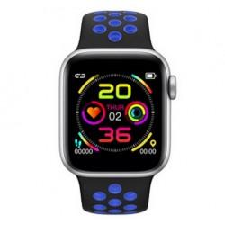 Ceas Smartwatch Techstar® W5 Albastru, 1.54 inch IPS, Monitorizare Cardiaca, Tensiune, Sedentarism, Bluetooth 4.2