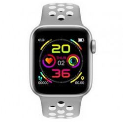 Ceas Smartwatch Techstar® W5 Argintiu, 1.54 inch IPS, Monitorizare Cardiaca, Tensiune, Sedentarism, Bluetooth 4.2