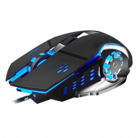 Mouse Gaming Techstar® Silent, Wireless, 3200 DPI, 6 Butoane, LED RGB, Macro