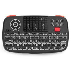 Tastatura Techstar® Rii i4, Dual Mode Wireless + Bluetooth, Scroll, TouchPad, Controller, Iluminata