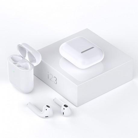 Casti I23 TWS, Touch, Bluetooth V5.0(CSR)+EDR, IOS, Android, cutie cu fixare magnetica si baterie