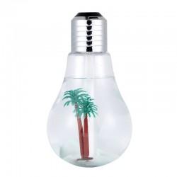Umidificator in forma de Bec, LED RGB, Alimentare USB, Putere 2W, Silver