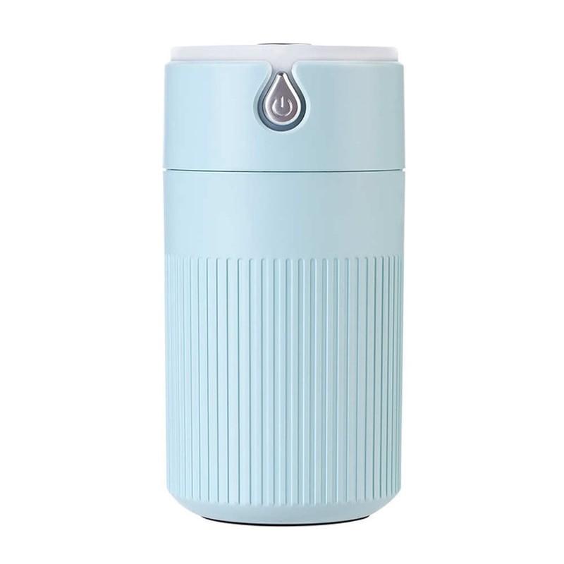 Umidificator Techstar® cu iluminare LED, Aromaterapie, Pentru Casa, Birou, 420ml, ALBASTRU imagine techstar.ro 2021