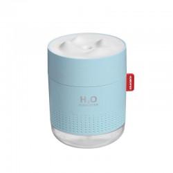 Umidificator Techstar® tip Candela, iluminare LED, Aromaterapie, Pentru Casa, Birou, Dormitor 500ml, ALBASTRU