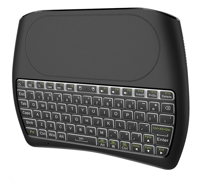 Tastatura Wireless Techstar® Vontar D8, Iluminata, 7 Culori, Android TV, PC, Smart
