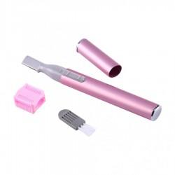 Trimmer Mini Techstar®, Facial, Compact, Cu Baterii, pentru Dame, Roz