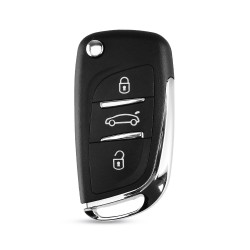 Carcasa Cheie Auto Techstar® Citroen DS3, Peugeot 207,307, 407, C2, C3, C4, C5, C6, C8, cu 3 Butoane, HU83