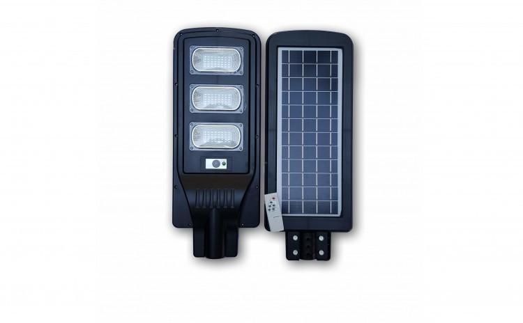 Proiector cu panou solar 90W senzor de lumina si telecomanda imagine techstar.ro 2021