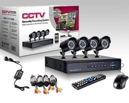 Kit de supraveghere HD, format din 4 camere de interior/exterior, HDMI imagine techstar.ro 2021