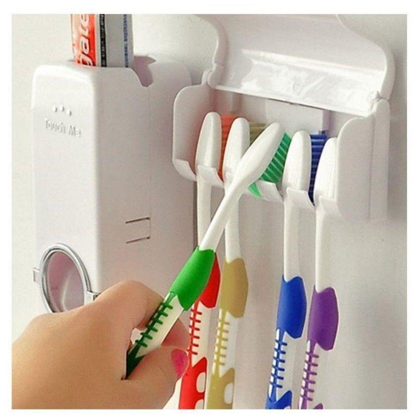 Dozator de pasta de dinti cu suport pentru periute imagine techstar.ro 2021