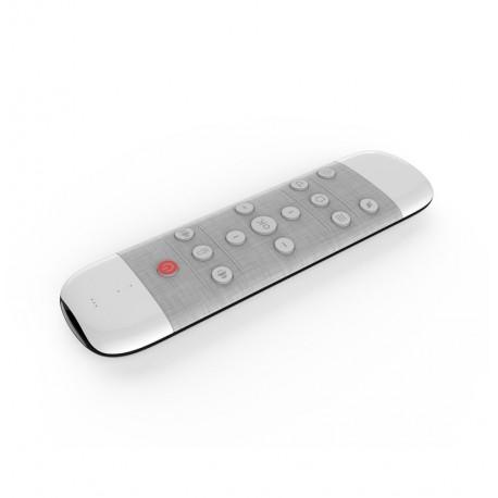Tastatura QWERTY + Air Mouse + Telecomanda, Iluminata, Anti-Pierdere, 2.4G, Gyroscop si IR, Voice Search, Google Assistant