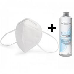 Set 5 buc KN95 FFP2 Masca Protectie Respiratorie, 4 straturi + Solutie igienizanta pentru maini 250ml