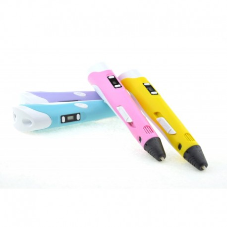 Creion Stilou 3D Resigilat cu Afisaj si Filamente Multicolore Incluse, Desenat in Spatiu pentru Incepatori