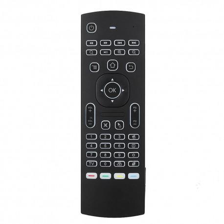 Tastatura Techstar® MX3, Air Mouse, Telecomanda, Iluminata, 2.4G, Gyroscop si IR