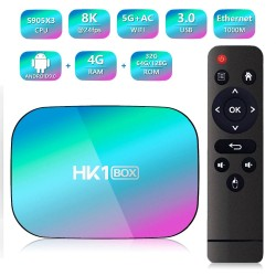 TV Box Techstar® HK1 BOX, Android 9.0, UltraHD 8K, 4K@ 60fps, 4GB RAM, 32GB ROM, 5G WiFi, Bluetooth 4.0, Cu IPTV, Model 2020
