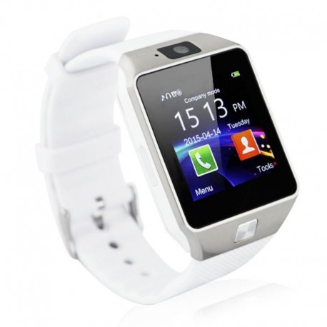 Smartwatch Bluetooth DZ09 MTK Compatibil SIM si MicroSD cu Camera Alb Resigilat
