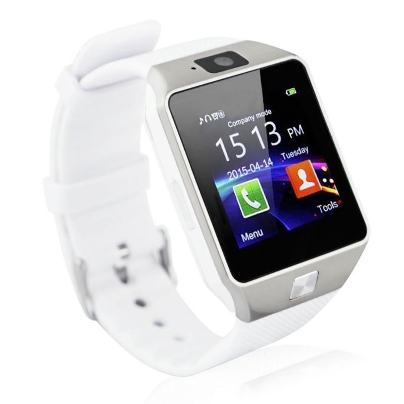 Imagine indisponibila pentru Smartwatch Bluetooth DZ09 MTK Compatibil SIM si MicroSD cu Camera Alb Resigilat