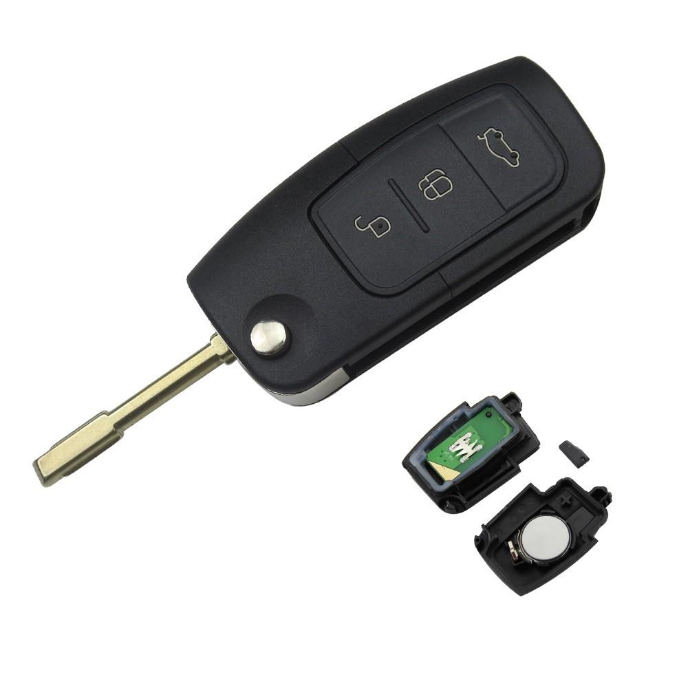 Cheie Auto Completa Techstar® Ford, Focus, Fiesta, Mondeo, 4D60, 433Mhz, FO21, 3 Butoane, Inchidere Geamuri imagine techstar.ro 2021