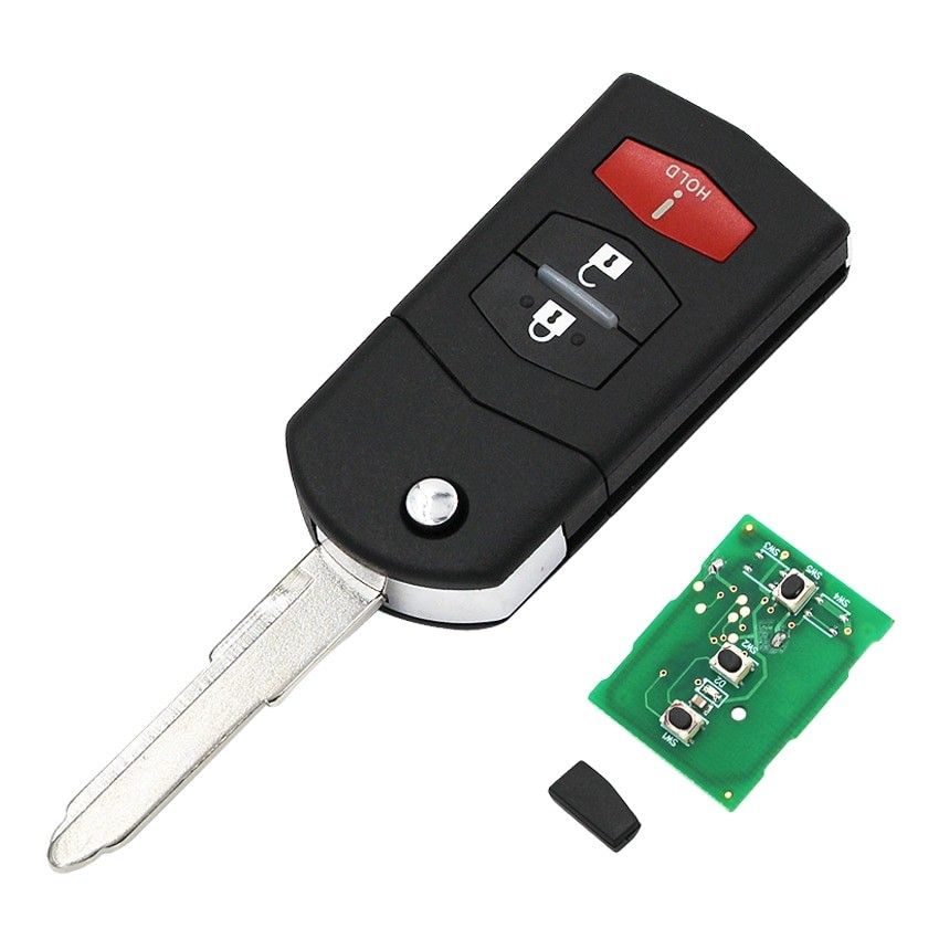 Cheie Auto Completa Techstar® Mazda 6, 5, 3, 2, RX-7, 313,8Mhz, 4D63. KPU41788, 3 Butoane imagine techstar.ro 2021
