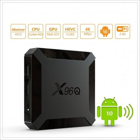 Media Player, Smart TV Box 4K, X96Q Android 10, 2gb/16gb, Wifi, Netflix