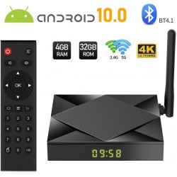 Smart TV Box Mini PC Techstar® TX6S, Android 10, 4GB + 32GB ROM, 8K HDR ,WiFi 5GHz, Allwinner H603