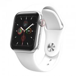 Ceas Smartwatch Techstar® W58Pro Argintiu, 1.3 inch IPS, Monitorizare Temperatura, Sedentarism, Bluetooth, IP65
