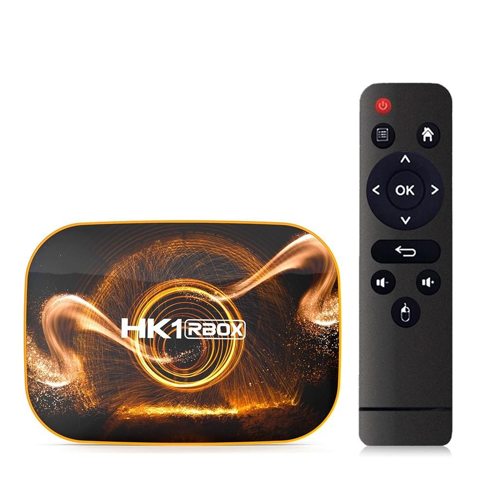 Smart TV Box Mini PC Techstar® HK1 RBox, Android 10, 4GB + 64GB ROM, 4K HDR ,WiFi 5GHz, SPDIF, AV, RK3318 imagine techstar.ro 2021