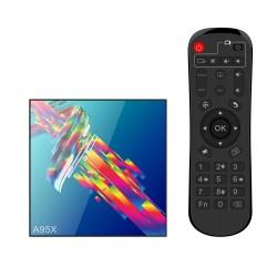 Smart TV Box Mini PC Techstar® A95X R3 , Android 9, 4GB + 32GB ROM, 4K HDR ,WiFi 5GHz, SPDIF, AV, RK3318