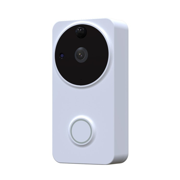 Sonerie Smart WiFi Techstar® DB02, ALB, Smart Life, Videointerfon, Senzor Miscare, Alerte Smartphone, 1080P, MicroSD