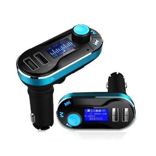 Modulator FM si Car Kit Bluetooth si MP3, BG02 Incarcator Auto cu doua porturi USB si Transmitator c