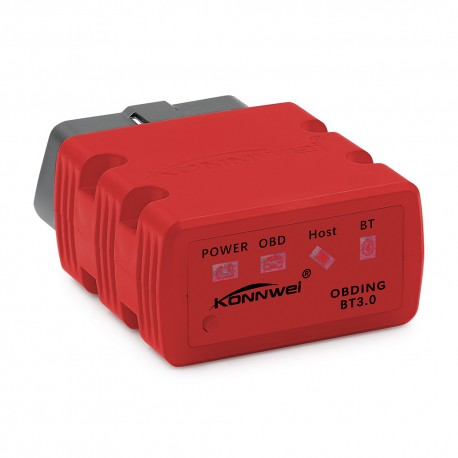 Diagnoza OBD2 KONNWEI KW902, Red, Bluetooth, Android, PC, ELM 327 OBDII, PIC18F25K80