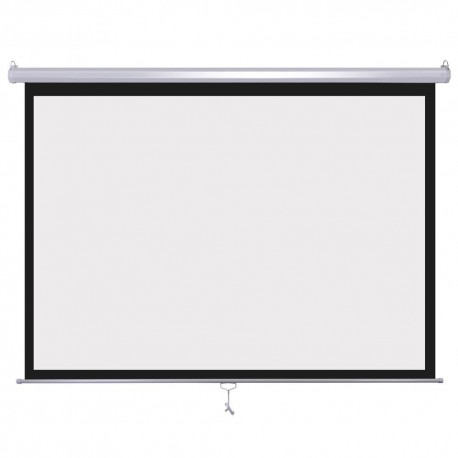 Ecran Manual pentru Proiectii Video cu Sistem de Blocare, Diagonala 182.88 cm