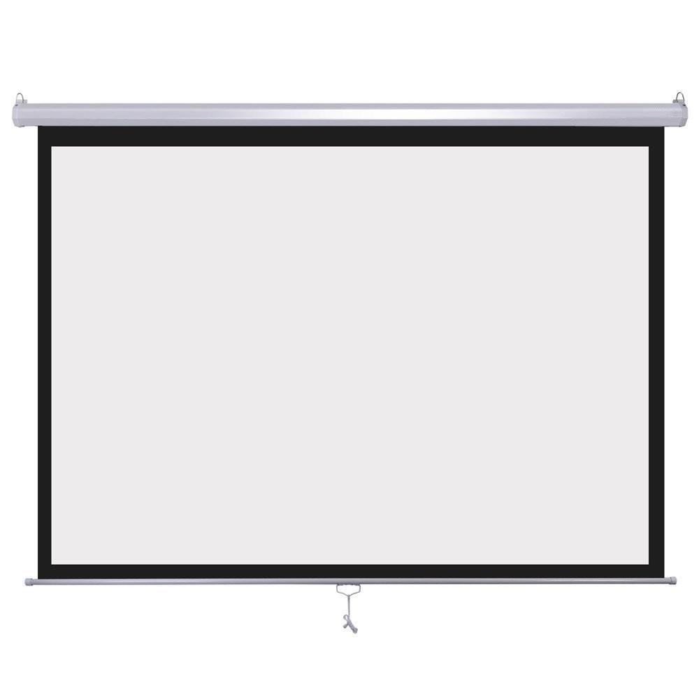 Ecran Manual pentru Proiectii Video cu Sistem de Blocare, Format 4:3, Diagonala 182.88 cm
