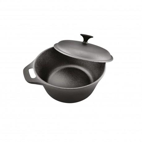 Cratita Cooking by Heinner, fonta pura, + capac 26.4 x 11 cm, 5 L